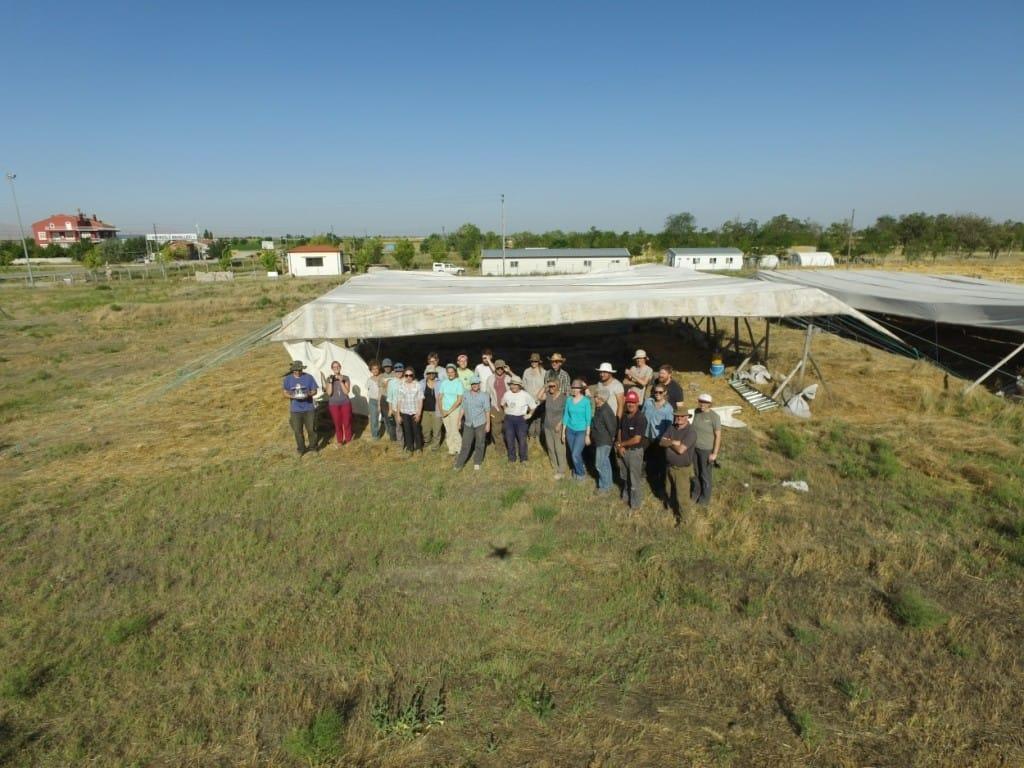 Dig team captured on site